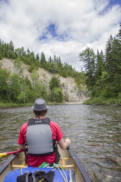 Sur la rivière Upsalquich
